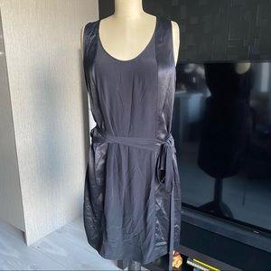 Helmut Lang Wrinkled Satin Dress